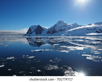 Neko Harbour Reflection Antarctica