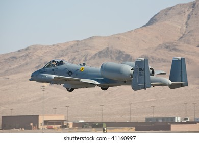 NELLIS AFB, LAS VEGAS, NV - NOVEMBER 14: Fairchild-Republic A-10 Thunderbolt II ground-attack aircraft performs at Aviation Nation 2009 on November 14, 2009 in Nellis AFB, Las Vegas, NV
