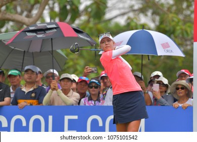 Nelly Korda of USA in Honda LPGA Thailand 2018 at Siam Country Club, Old Course on February 25, 2018 in Pattaya Chonburi, Thailand.