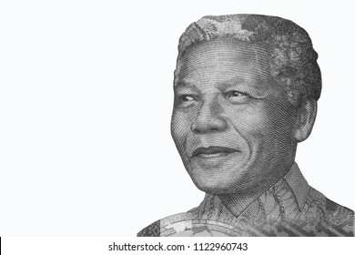 Nelson Mandela, Portrait from South Africa Banknotes.