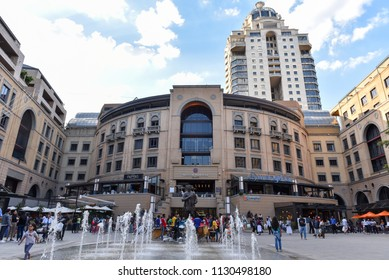 Nelson Mandela Square, Sandton, Johannesburg, South Africa at 17 November 2017