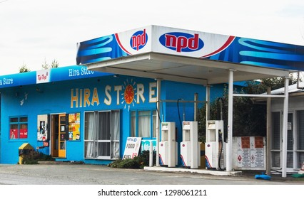 Nelson, New Zealand - 25 August, 2017: The Hira Store is a landmark convenience store in the Nelson area of New Zealand.
