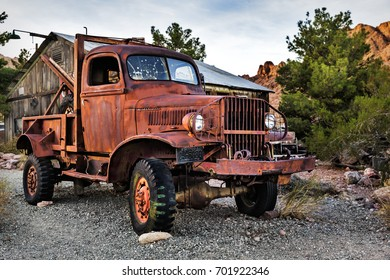 Nelson, USA - November 22: Old rusty truck in Nelson Nevada Ghost town on November 22, 2016