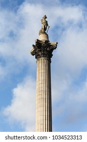 Nelson's Column at Trafalgar Square, London, United Kingdom