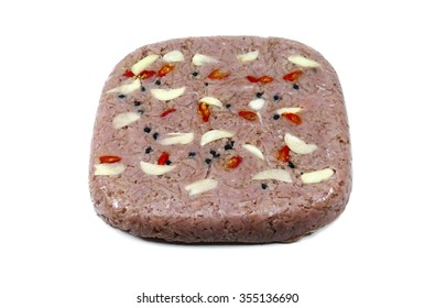 Nem Chua is a very popular vietnamese fermented pork roll with garlic,chili and pepper. It is eaten as appetizer or especially in each lunar new year in every vietnamese family.This is a rare XXL size