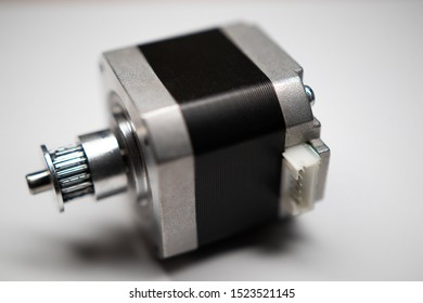 Nema 17 stepper motor with pulley mounted on the shaft