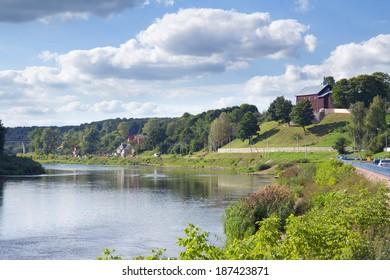 Neman river landscape  in Grodno, Belarus