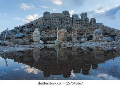Nemrut Dagi Mountain , Stone head of God