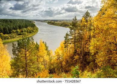 Nemunas River in Lithuania near Birstonas