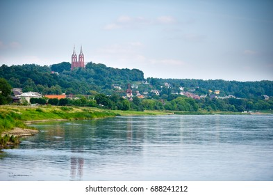 Nemunas river in Vilkija, Kaunas district municipality, Lithuania. Nemunas, a major Eastern European river, rises in Belarus and flows through Lithuania before draining into the Curonian Lagoon.
