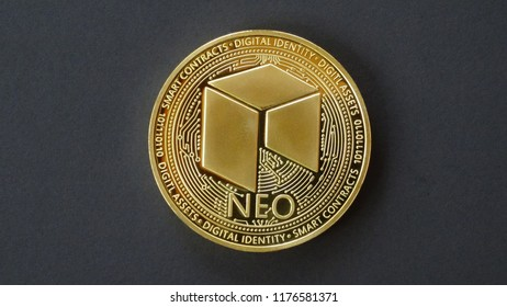 NEO coin, Crypto curreny coins, digital money, blockchain