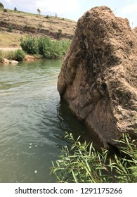 Neo-Assyrian Halamata Relief Carvings That Have Broken Off And Fallen Into The Duhok River Near The Modern-Day Town Of Duhok, Kurdistan Region of Iraq.