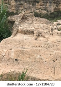 Neo-Assyrian Halamata Stone Relief Animal Carvings  Near The Modern-Day Town Of Duhok, Kurdistan Region of Iraq.