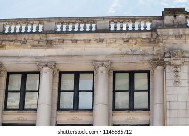 neoclassic building details