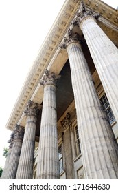 Neoclassical architecture with columns concept of historical building