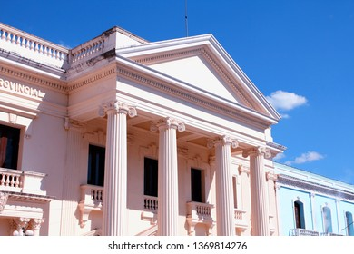 Neoclassical architecture in Santa Clara, Cuba. City Hall.