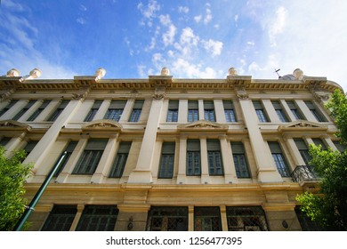 Neoclassical buildings in the center of Athens, Greece