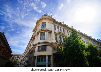 Neoclassical buildings in the center of Athens,Greece