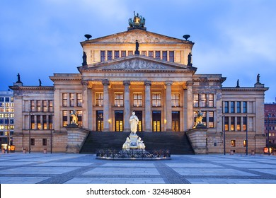 The neo-classical theatre building is used as a concert hall, and is home of the Berlin Symphony Orchestra. It is located in the Gendarmenmarkt near Unter den Linden.