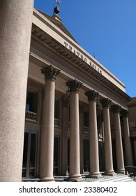 Neoclassicism architecture on Solis Theater, Montevideo Uruguay