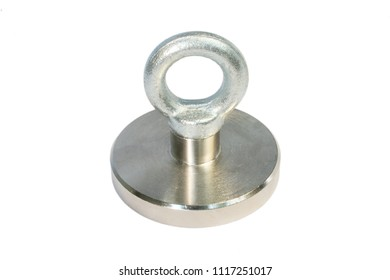 Neodymium magnet, the strongest type of permanent magnet commercially available