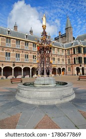 The neo-gothic fountain in the Ridderzaal (Knight's Hall), which forms the center of the Binnenhof (13 century gothic castle), The Hague, Netherlands
