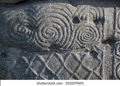Neolithic age stone art carvings found near Newgrange, Ireland