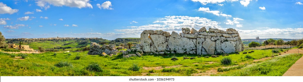 The neolithic monument of Ggantija in Gozo island, Malta.