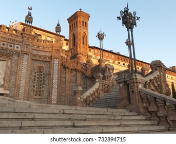 Neomudejar staircase in Teruel, Aragon, Spain