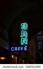 Neon Bar Caffe Sign