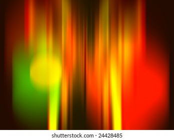 neon colored lights in red, green, yellow