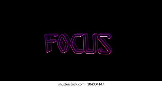 Neon Keywords Focus