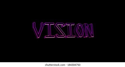 Neon Keywords Vision