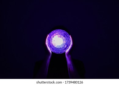 neon lamp in hands on a black background party feulet and blue photo back to the past neon buy look wallpapers