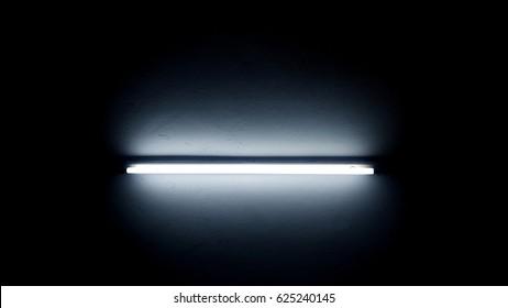 Neon light in dark room