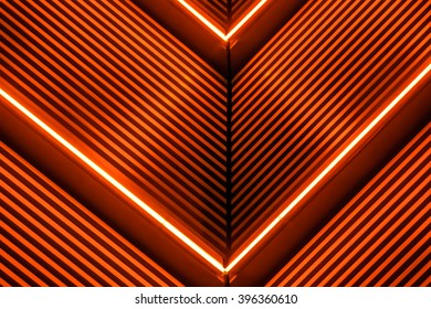 Neon lights with line texture