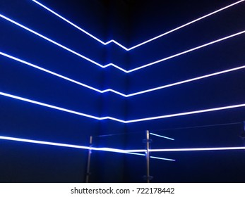 Neon lights on a blue background