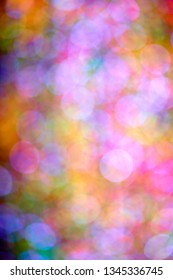 Neon lights out of focus. Abstract background.