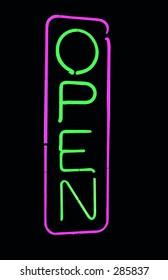 Neon open sign (vertical)