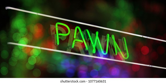 Neon Pawn Sign