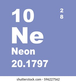 Periodic table elements no 10 neon stock illustration 304063748 neon periodic table of elements urtaz Image collections