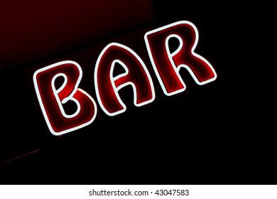 Neon sign, Bar