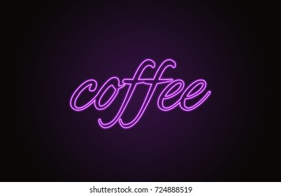 "neon sign ""coffee"""