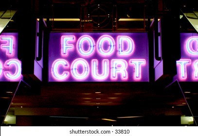Neon Sign of Food Court