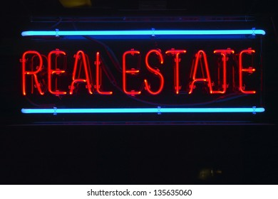 Neon sign for Real Estate in Anza Borrego Springs, CA