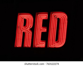 Neon sign RED