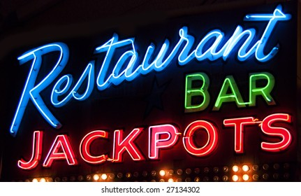 Neon sign for restaurant in Las Vegas