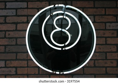 """neon sign series"" ""8 ball"""