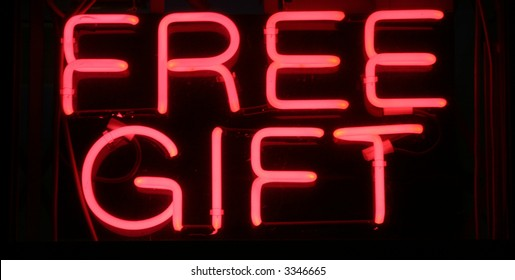 """Neon Sign Series """"free gift"""""""