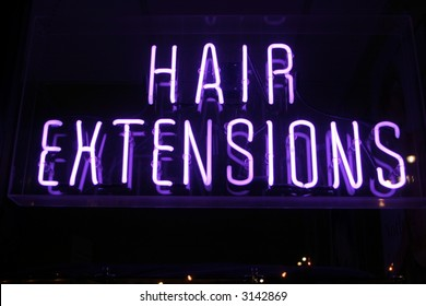 "Neon Sign series  ""hair extensions"""